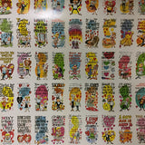 Funny Valentines rare uncut card sheet 1960s
