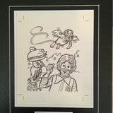 McDonalds rare original matted sketch 1980s