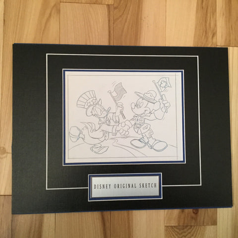 Disney Mickey/ Donald USA and Canada original sketch 1980s