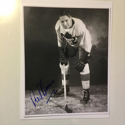 Toronto Maple Leafs rare Red Horner signed photo w/COA