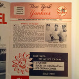 Baseball Yankees program 1962