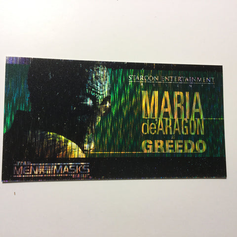 Star Wars Greedo spectra Etched foil test card 1997