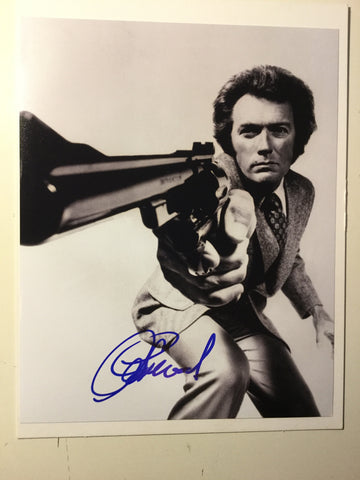 Clint Eastwood movie legend rare signed photo w/ COA