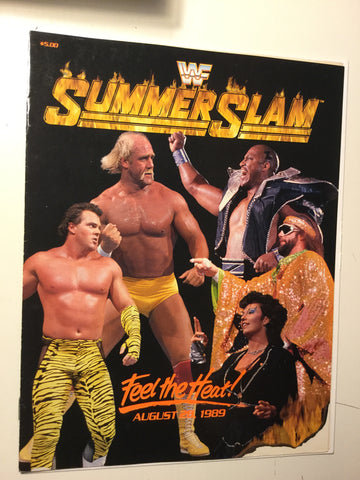 Wrestling Summer Slam rare program 1989