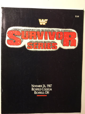 Wrestling Survivor series rare program 1987