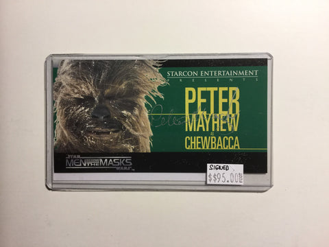 Star Wars Starcon rare foil test chewbacca card 1997