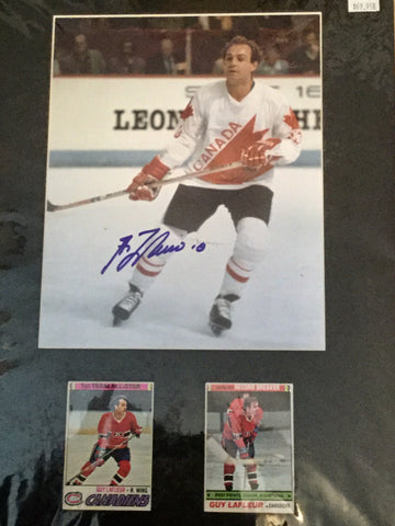 Guy LeFleur Team Canada hockey signed matted photo w/COA