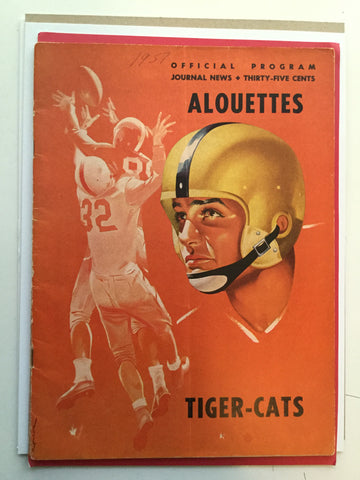 CFL Football rare game program 1957