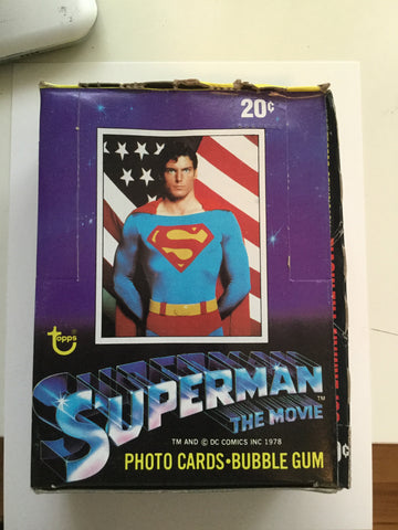 Superman first movie cards box 1978