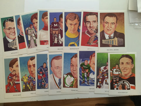Hockey Hall of Fame series F postcard set 1980s