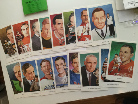Hockey Hall of Fame series A rare postcard set 1980s