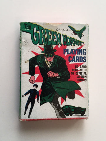 Green Hornet tv show rare cards deck 1966