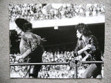 Rolling Stones large original B&W photo 11x14 from 1980s