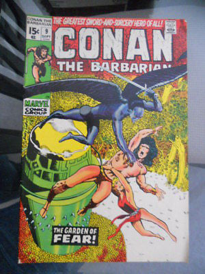 Conan the Barbarian #9 comic book 1970s