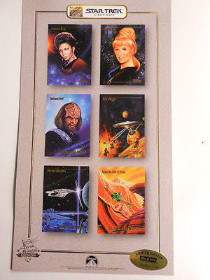 Star Trek,Football,comics,motorcycles uncut card sheets 1993
