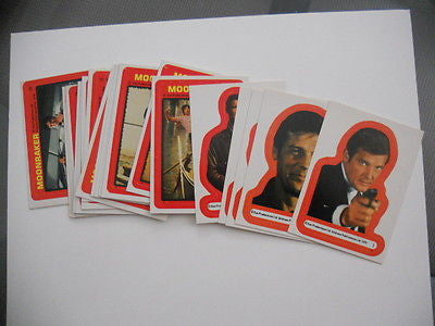 James Bond Moonraker movie sticker set 1979
