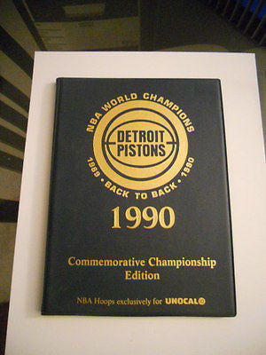 Detroit Pistons Champs Unocal limited card set w/ binder 1990