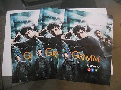 Grimm TV show 3 preview 4x6 cards.