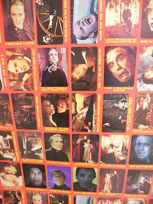 Shock Theatre uncut horror Test set card sheet 1970s
