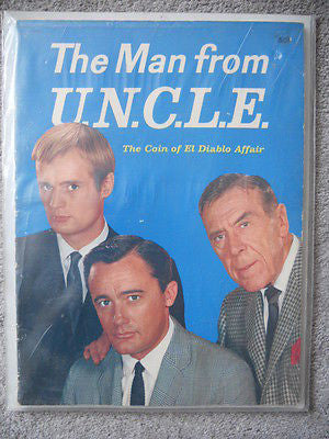 Man From Uncle TV show rare large book 1970s