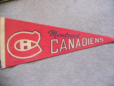 Montreal Canadiens NHL rarer version hockey pennant 1970