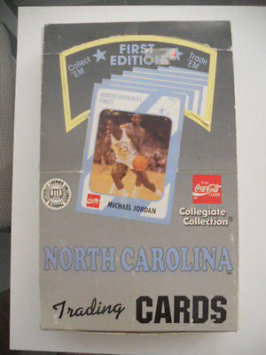 Michael Jordan North Carolina rare full box 1990