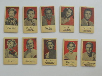 Movie stars rare card set from 1940