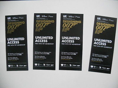 James Bond 50th Anniversary 4 bookmarks