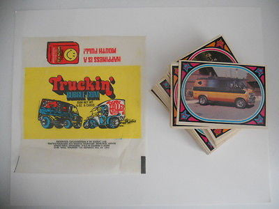 Truckin rare complete card set with wrapper 1970s