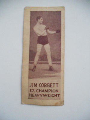 Jim Corbett tabacco boxing card early 1900s
