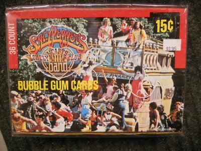 Sgt. Peppers Movie cards full unopened box 1970s