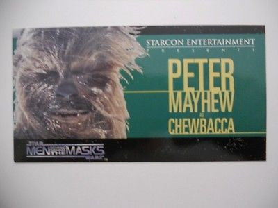 Star Wars Starcon only issued in Canada rare limited Chewbacca card 1998