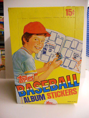 Baseball Topps stickers stars/ rookies full box 1981