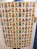 Indiana Jones Movie rare stickers uncut card sheet 1983