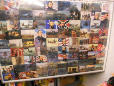 Civil War rare vintage uncut card sheet 1990s