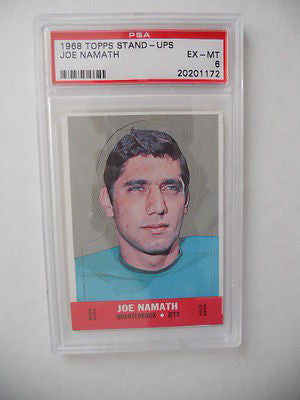 Joe Namath NFL PSA graded football stand-up card 1968