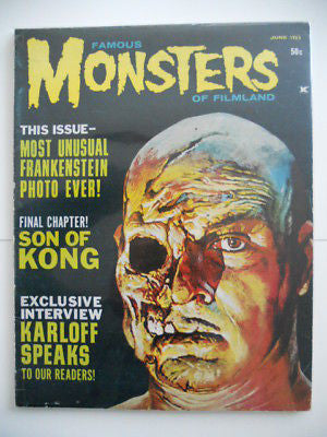 Famous Monster of Film rare issue1963