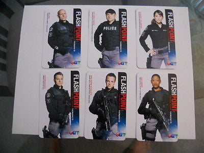 FlashPoint TV series limited issued 6 card set 2012