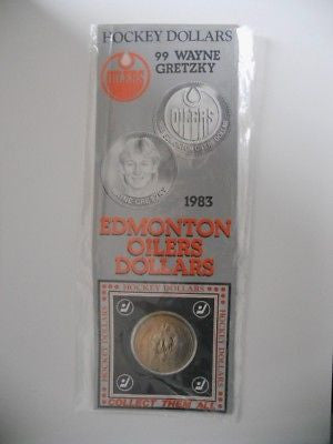 Wayne Gretzky rare issued NHL coin in package 1983