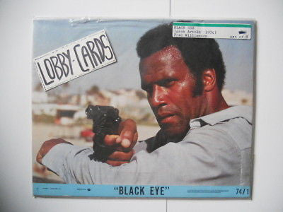 Blacksplotation Black Eye movie lobby cards set 1974