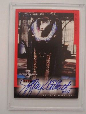 Babylon 5 TV show rare Jeffrey Willerth autograph insert card 1997
