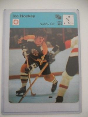 Bobby Orr 4 x 6 NHL hockey card 1975