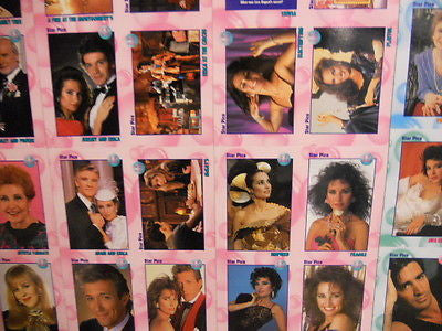 All My Children cards rare uncut card sheet Starpics 1991