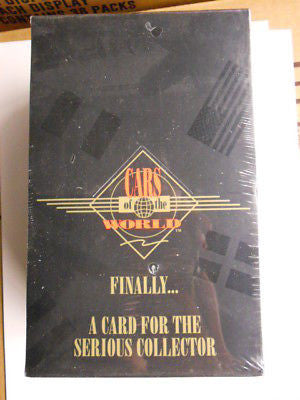 Cars of the world 10 mint complete sealed cards sets 1990