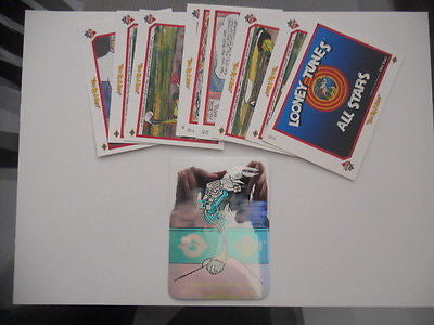 Looney Tunes UD preview card set w/ hologram card 1990