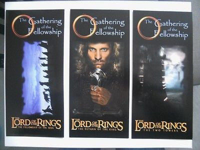 Lord of the Rings rare special opening night 3 cards ticket set