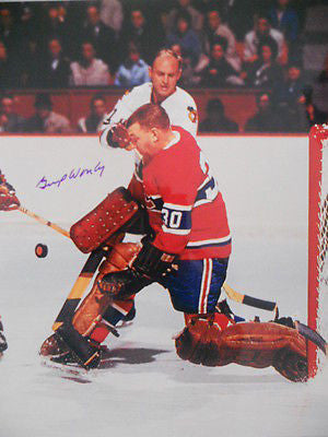 Montreal Canadiens Gump Worsley signed  8x10 NHL photo w/ COA