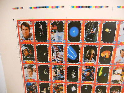 Buck Rogers TV show rare test proof card sheet 1979