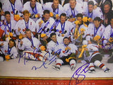 Team Canada signed hockey poster plaque: Gretzky,Lemieux and more
