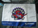 Toronto Raptors NBA Carter /Bosh signed 9x12 Raptors mini Flag w/ COA